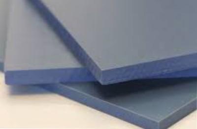 PVC plates grey, orange and transparent
